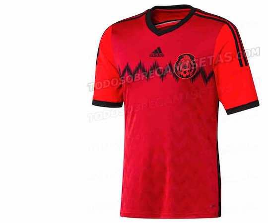 Así sería la nueva camiseta de México. Foto de todosobrecamisetas.blogspot