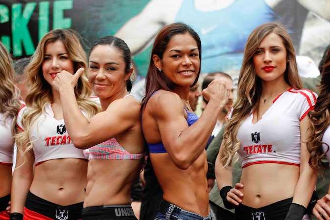 Se llevó a cabo el pesaje para la pelea entre las boxeadoras Jackie Nava y la venezolana, Alys Sánchez, que disputarán el campeonato mundial femenil peso supergallo de la AMB, en la ciudad de Tijuana.