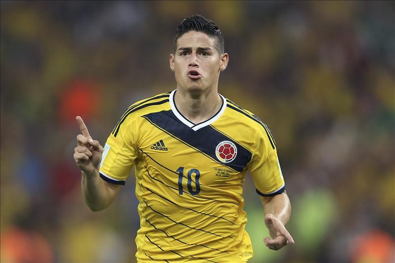 James Rodríguez supera, con 5 goles, a Neymar, Messi y Müller. EFE