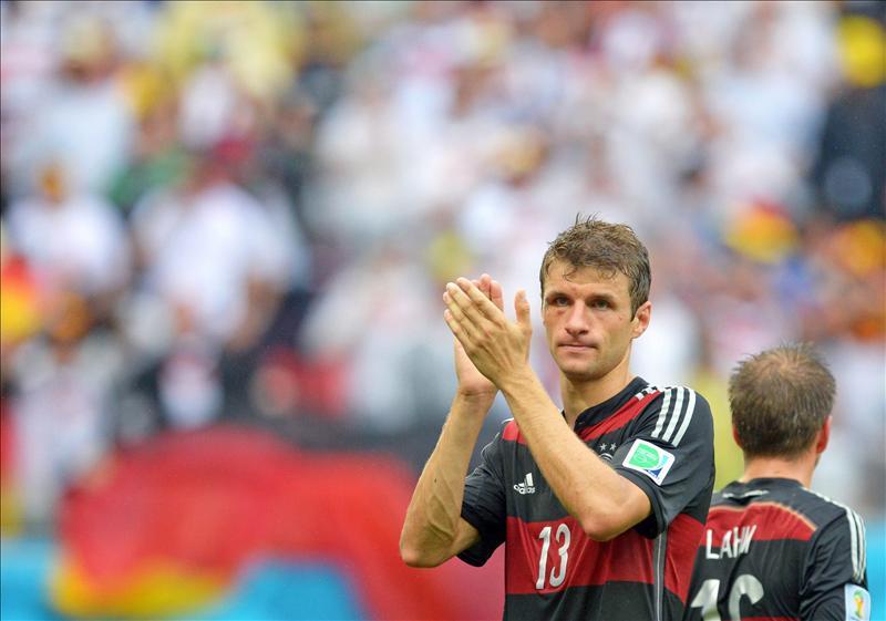 Thomas Müller alcanza en la cima a Messi y Neymar. EFE