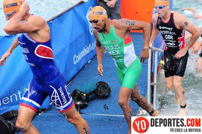 Crisanto Grajales en las Series Mundiales de Triathlon en Chicago