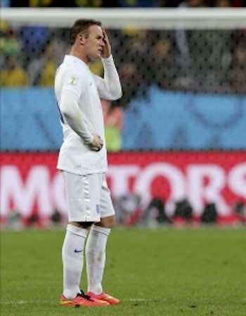 La losa de Wayne Rooney. EFE