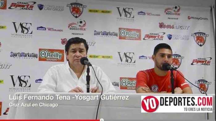 Luis Fernando Tena y Yosgart Gutierrez sorprendido por el apoyo a Cruz Azul en Chicago