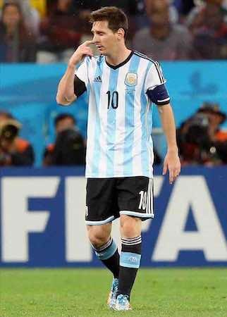 """""""No me interesa el premio. No me importa nada"""", dijo Lionel Messi. EFE"""