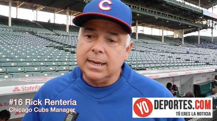 Rick Renteria manager de Chicago Cubs