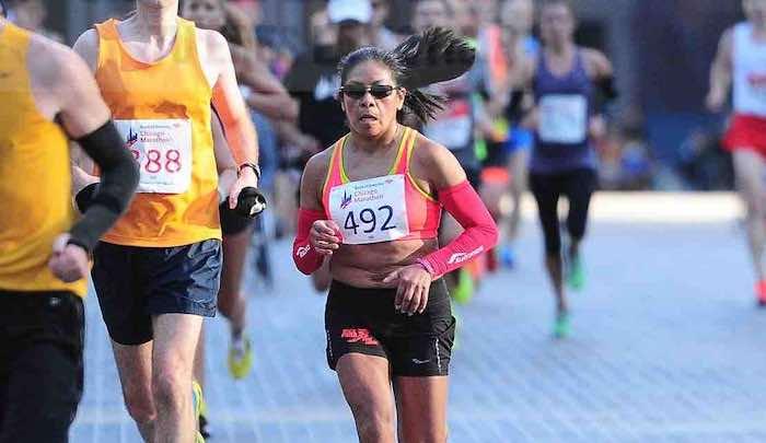 Columba Montes Chicago Marathon