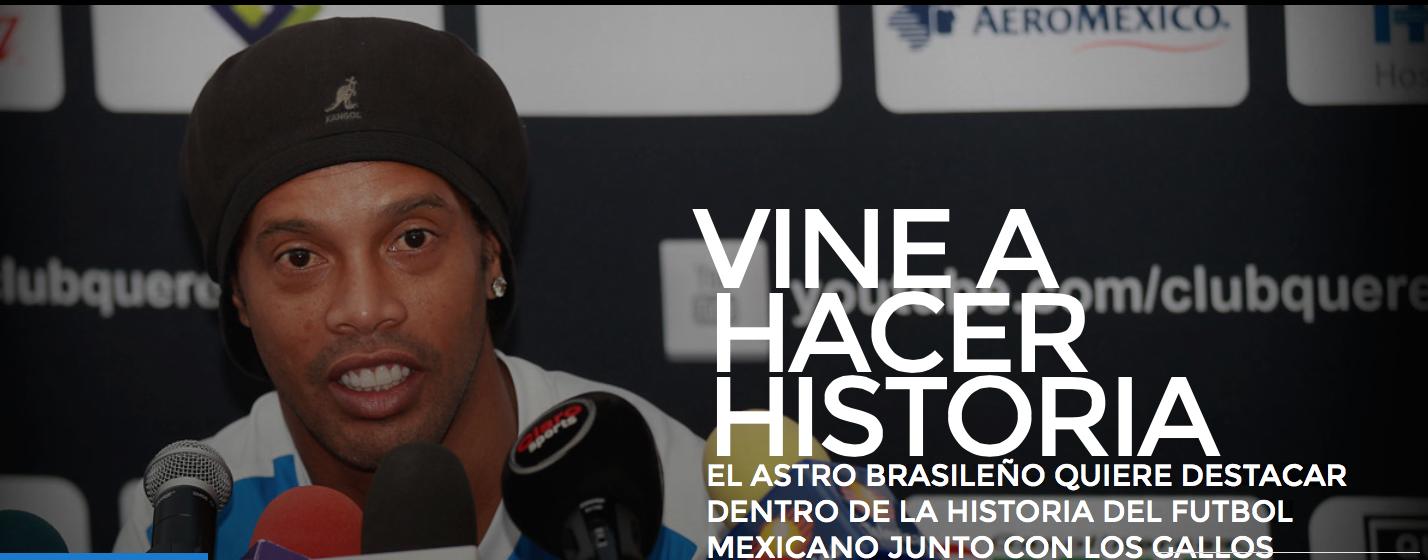 Ronaldinho Gallos de Queretaro
