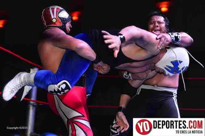 LA Park, Atlantis, Último Guerrero y Piloto Suicida en la función organizada por Fuerza Mexicana de Lucha Libre en Chicago