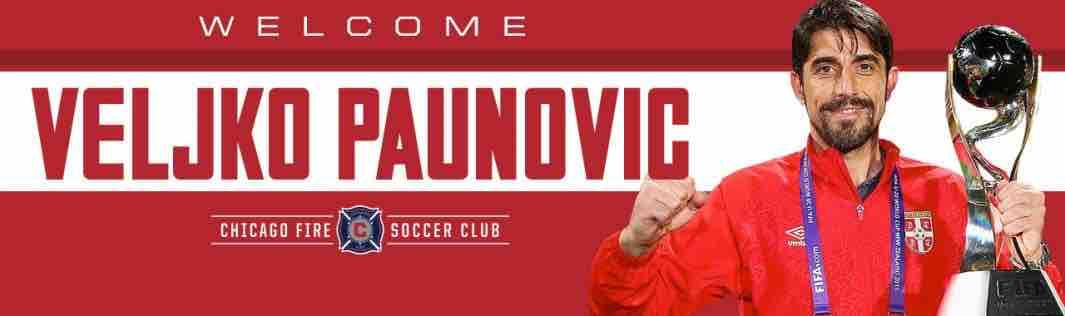 Veljko Paunovic Chicago Fire coach