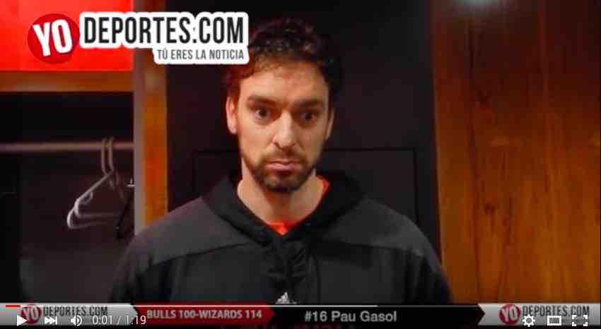 Pau Gasol Bulls contra Washington Wizards