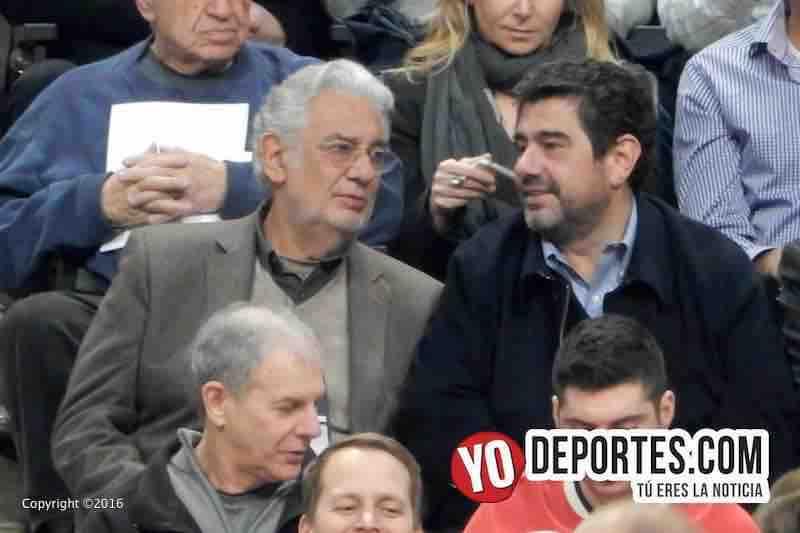 Plácido Domingo en Chicago apoyando a Pau Gasol y los Bulls