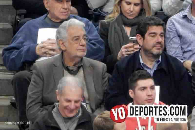 Placido Domingo en Chicago apoyando a Pau Gasol y los Bulls