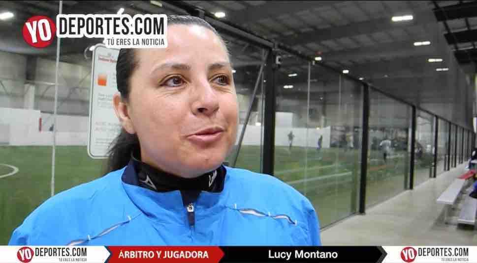 Árbitro Lucy Montano también mete goles