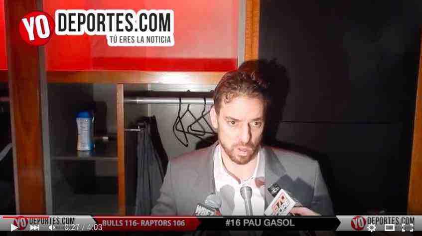 Pau Gasol Bulls vs Toronto Raptors
