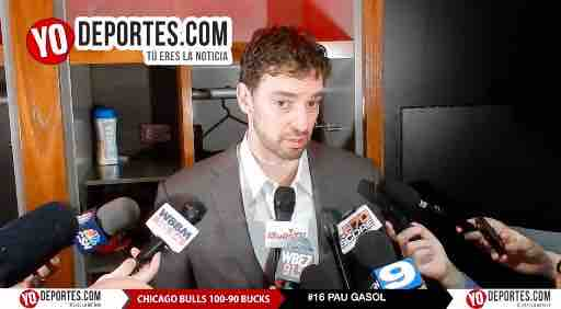 Bulls ganan con triple doble de Pau Gasol a Milwaukee Bucks