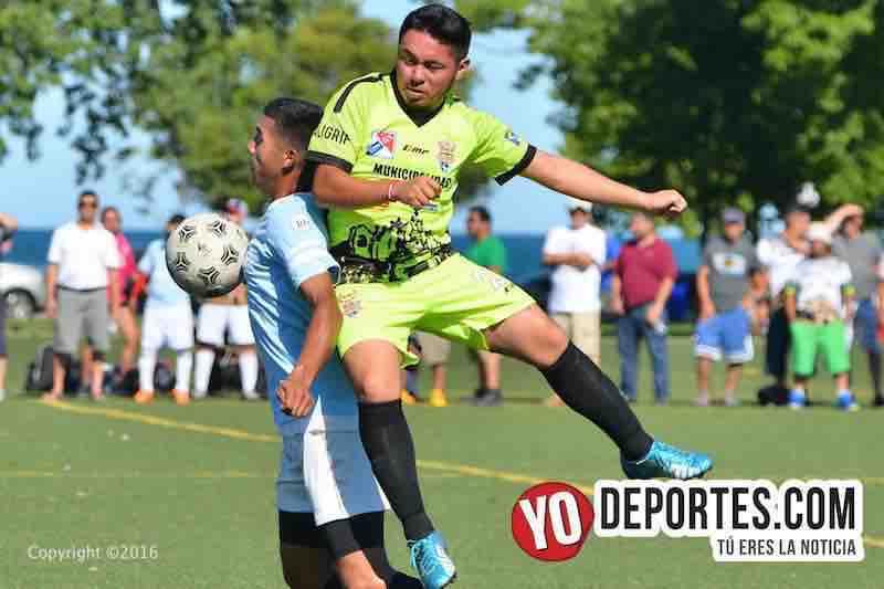 Goliza del América de Salcajá a selección de guatemaltecos en Chicago