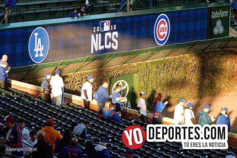 Juego 6 fotos y video Cubs vs. LA Dodgers en el Wrigley Field