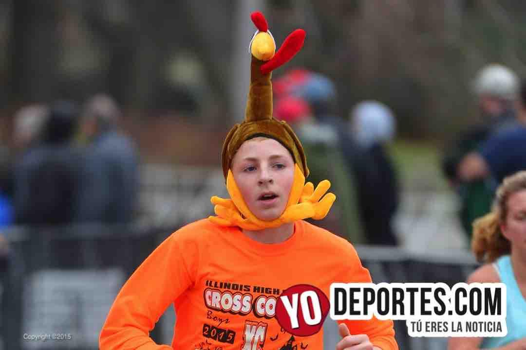 8 mil atletas en el Día de dar Gracias Turkey Day Run Chicago 8K/5K