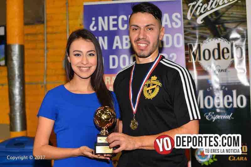 Fernando Padilla campeón de goleo con Los Merengues en Chitown Futbol