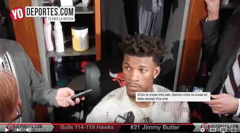 Ni con 40 puntos de Jimmy Butler los Bulls pueden ganarle a Atlanta Hawks