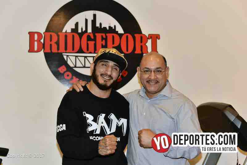 Adrian Granados contra Adrien Broner en el gimnasio Bridgeport Boxing Club