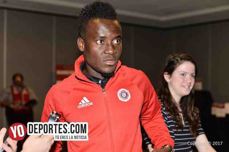David Accam Chicago Fire desayuno Kickoff Luncheon