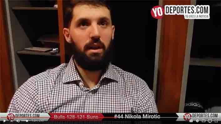 Nikola Mirotic resucita con 20 puntos en triunfo de Bulls contra Suns