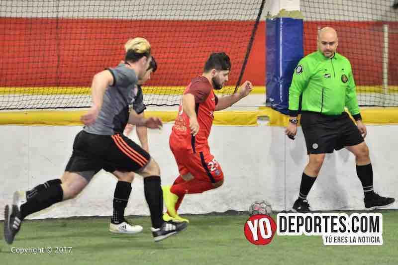 Xonacatla Jr contra Chicanos final de la Liga de Matehuala en Melrose Park