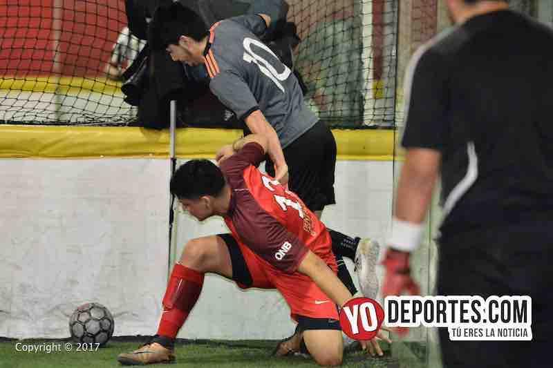 Xonacatla Jr contra Chicanos la Liga de Matehuala en Melrose Park