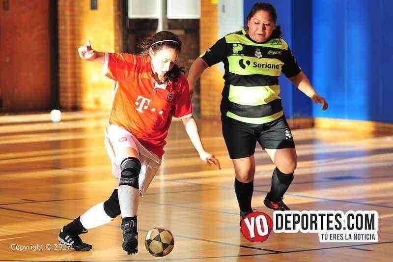 Lady Azteca contra Manchester cuartos de final Liga Club Deportivo Checa en Chicago.