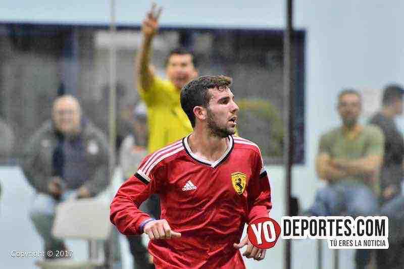 Gordy Gurson de San San, autor de los 4 goles en el juego de ida contra el Tucuaro en cuartos de final de la Champions en la Liga Latinoamericana.