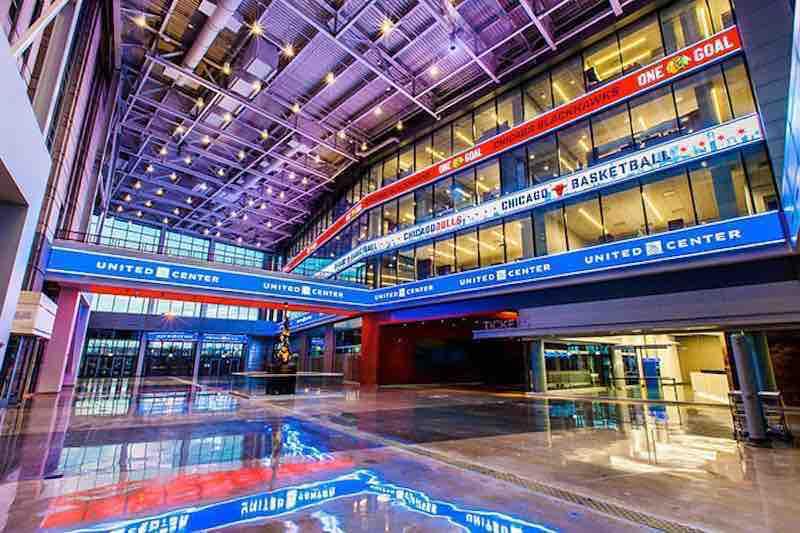 United Center-Atrium-Atrio-Bulls Chicago