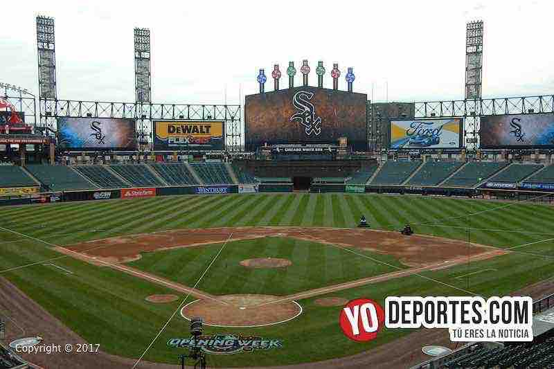 El estadio de los White Sox Media Guaranteed Rate Field esta listo para el 3 de abril.