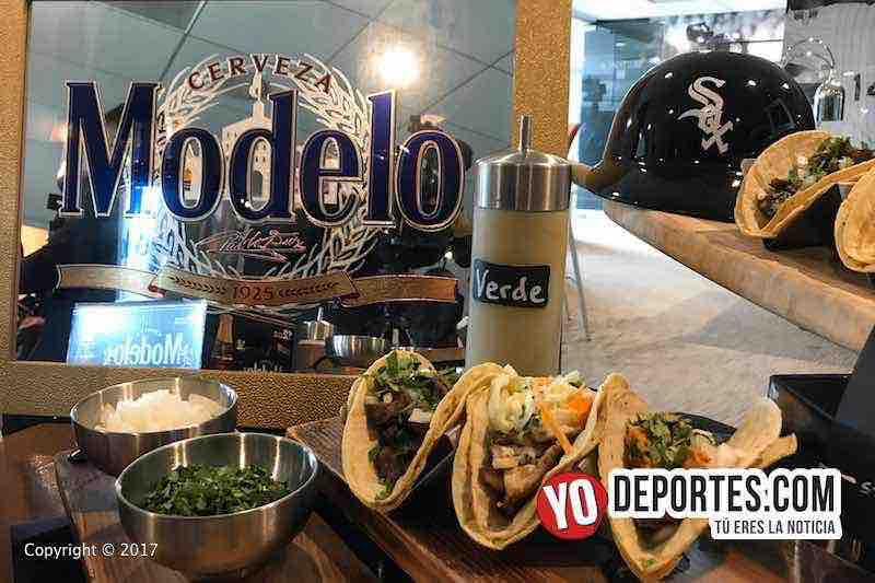 White Sox Media Tour Guaranteed Rate Field-tacos-cerveza-modelo