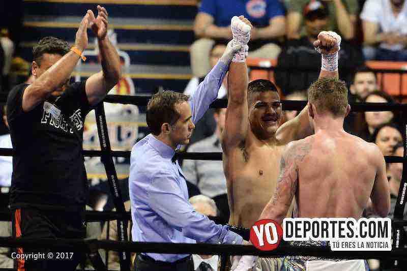 Cesar El Cepillo Ruiz-Ruben Schobitz-decision unanime Warriors Boxing