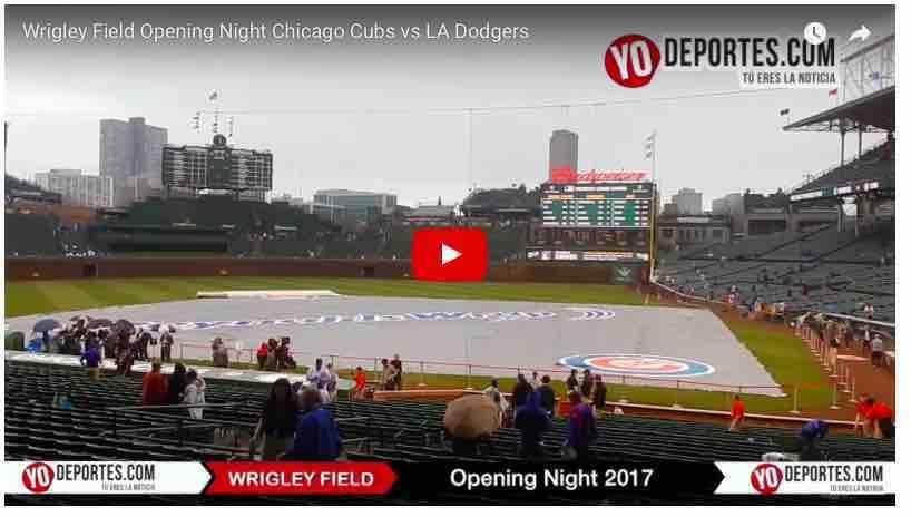 Lluvia retrasa inauguración de los Cachorros de Chicago