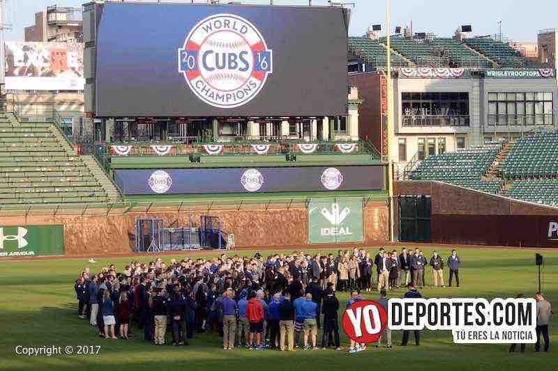 Chicago Cubs employees ring ceremony