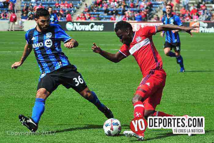 David Accam-Chicago Fire empata con-Montreal Impact