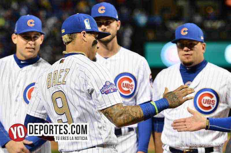 Javier Baez-Chicago Cubs Wrigley Field-Opening Night ceremonia