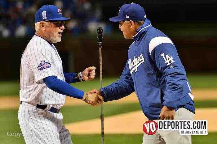 Joe Maddon-Dave Roberts-Cubs Opening Ceremony