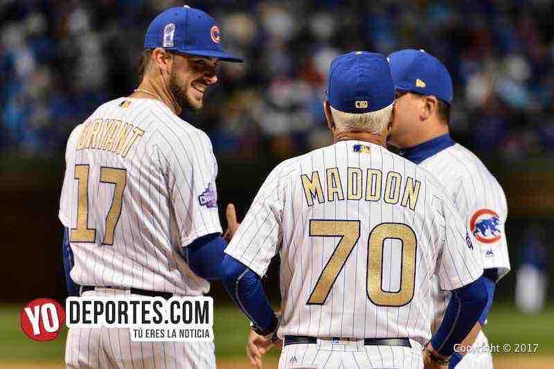 Kris Bryant-Joe Maddon-Chicago Cubs Wrigley Field-Opening Night
