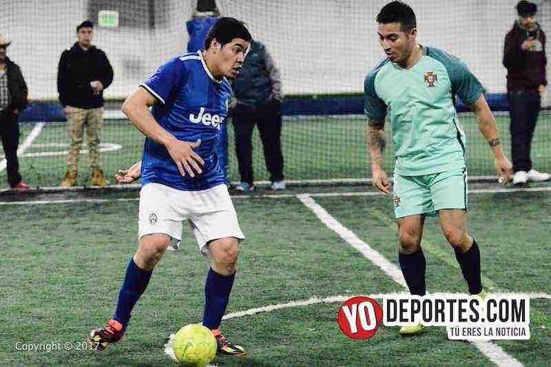 La Juve contra La Mangana Fuerza Latina Soccer League