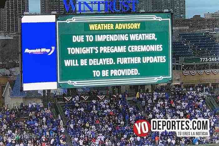 Rain delay-Chicago Cubs-LA Dodgers-Opening Night