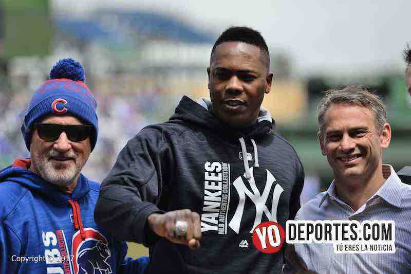 Aroldis Chapman-anillo-Cubs-Yankees-Joe Maddon-Jed Hoyer