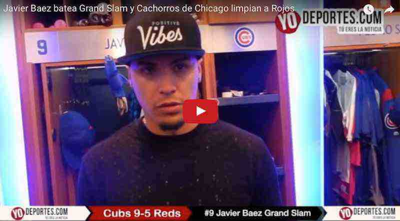 Javier Báez batea 'grand slam' y Cachorros limpian a los Rojos