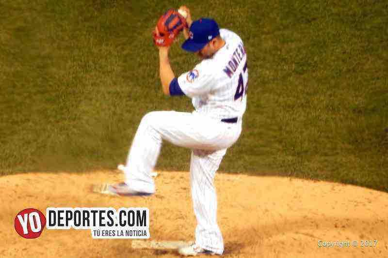 Miguel Montero lanza contra los Yankees de Nueva York