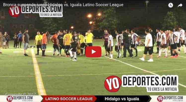 Riñen Hidalgo e Iguala en Latino Soccer League y se suspende juego