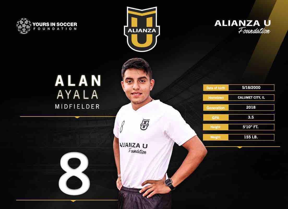 Alan Ayala a la selección colegial Alianza U Foundation