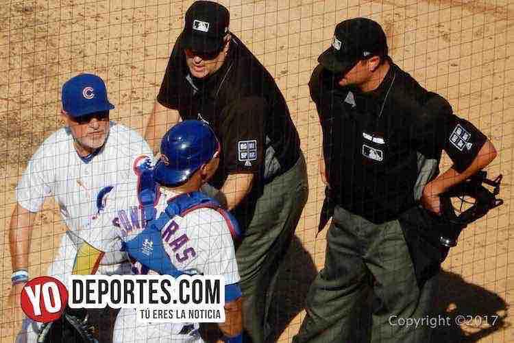 Willson Contreras no se arrepiente pero pide disculpas al umpire y fanáticos