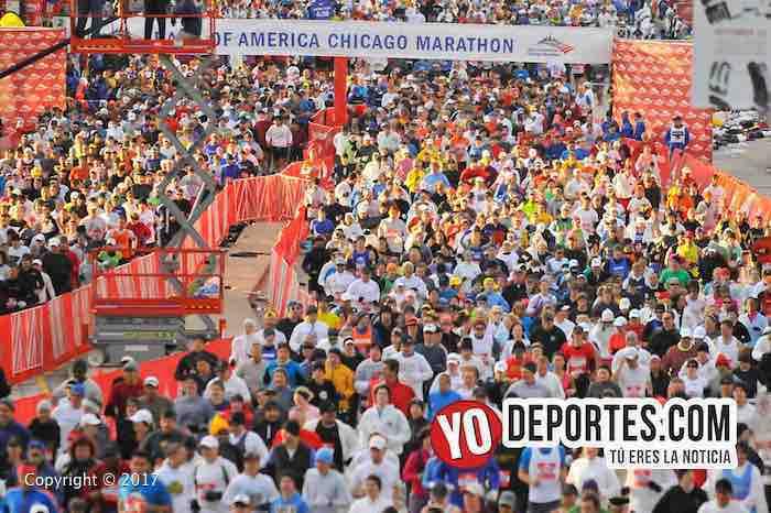 40 mil participantes y 1.7 millones de espectadores en Maratón de Chicago
